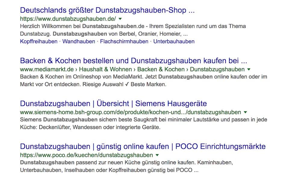 Organische Googlesuche